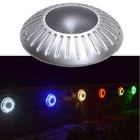 Wholesale lawn floor lights - UFO Lamp Outdoor LED Solar Underground Light Solar Lamp Buried Lawn Lamp Floor Lamps Solor Garden Light Solar Lawn Lamp Outdoor Wall Lamp