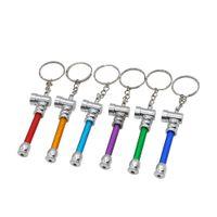 Wholesale Machine Keys Wholesale - multi-color portable funny key ring smoking pipe ,shisha hookah grinder gift rolling machine Free shipping Mr.bruce