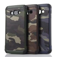 Wholesale Galaxy Grand Back Cases - Army Camo Luxury Camouflage Hybird 2 in 1 PC TPU Back Cover Case For Samsung Galaxy J1 J2 J5 J7 A8 A9 Grand Prime G530 Core G360 E5 E7