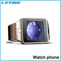 Wholesale Dual Sim Ios - 2016 Smart Watch Phone MTK6261 Wireless Bluetooth DZ09 Dual Sim card Smartwatch Wristwatch For Samsung Android Phone