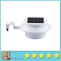 Wholesale Solar Stair Led Light - 2015 New 2pcs Solar light Powered Super Bright 3 LED Garden Wall Lamp Pathway Path Step Stair Mounted