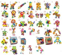 Wholesale 42 Dolls - Lamaze Toy Crib toys with rattle teether Infant Early Development Toy stroller music Baby doll toy Lamaze Cloth Book Books 42 Style Choose