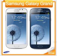 Wholesale Dual Sim Phones Gsm 3g - Original Samsung Galaxy Grand I9082 Mobile Phone GSM 3G WIFI GPS Dual sim cards 8MP Camera Unlocked Phone Refurbished