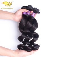 Wholesale Loose Wave Remy Weave - Peruvian Virgin Hair Extension Loose Wave 3 Pcs Peruvian Loose Wave Brazilian Malaysian Peruvian Loose Wave Human Hair Weave Bundles