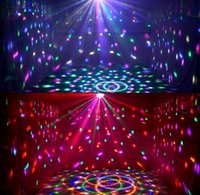 Wholesale Club Decor - DJ Club Disco KTV Party Bar RGB Crystal LED Ball Projector Stage Effect Light 6 colors Auto&voice-activated Night Light Decor llighting