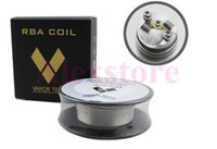 Wholesale feet heat - Nichrome 80 Wire heating resistance coil wick 30 Feet Spool AWG 22g 24g 26g 28g 30g 32g Gauge for rebuildable RDA RBA atomizer