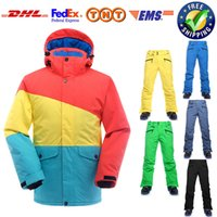 Wholesale-Winter Ski Suit Homens impermeável à prova de vento New Snowboard Ski Jacket Pants Sets Men Breathable Suit de esqui térmico Roupa de neve