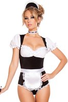 Wholesale Cleaning Sexy - Lolita maid outfit Sexy Cleaning Maid Costume Wholesale 8892 Fantasy Adult Maid Cosplay To Clean Costume Halloween Costume for Women