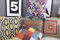 Wholesale Aztec Pillows - 45X45cm Vintage cushion cover Pillow Case Cover Throw Linen Decor Home Bargello Geometric Aztec tribe