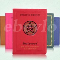 2015 Novo design Cinco estrelas Magic Circle Book PU Case para iPad 2/3/4 6 cores