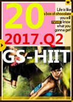 su Top-sale 2017.4 Aprile Q2 Nuova routine GS 20 ST HIIT 30 minuti Esercizio Fitness Video GS20 ST20 Video DVD + musica CD