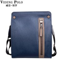 Wholesale Action Business - Wholesale-VIDENG POLO New Trendy Action Leather Men's Crossbody Bags,Casual Business Blue Brown Black Leather Bag,Vintage Messenger Bags