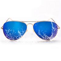 Wholesale Cheap Hinges - Cheap Designer Sunglasses Men Women Brand Sun Glass Wholesale Flash Mirror Lenses Metal Hinge Frame 10pcs lot Drop Shipping
