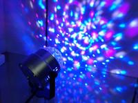topu ledli sahne lambası toptan satış-LED Mini Döner lamba Sihirli Topu Parti Işık Disko Sahne Aydınlatma RGB Renkli Disko DJ Parti KTV Sahne Işık lazer Işığı
