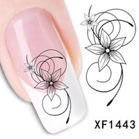 Wholesale Temporary Nail Art - Hot Sale Fashion Nail Stickers Water Transfer Sticker Nail Art Decals Nails Wraps Temporary Tattoos Watermark NailTools Wholesale 0073MU