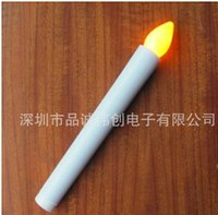 Wholesale Taper Led Candle - Wholesale-New arrivel sale 50PCS yellow taper led candle use to weddings religious activities(batteries not including)
