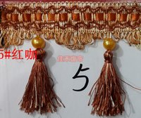 Wholesale Decorative Beads Curtains - Wholesale-Wedding decorative lace curtains hanging beads shall   curtain accessories   Accessories   side ear   tassel   Pearl lob