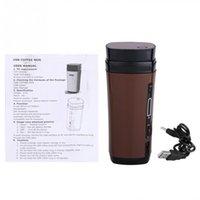 Wholesale Brown Coffee Mugs - USB Coffee Cup Rechargeable Powered Coffee Mug Warmer Automatic Stirring Brown