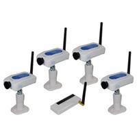 Wholesale Dvr Kit Ch - Wireless 2.4Ghz USB DVR +4 CH Camera Digital Security Camera Monitor System Kit