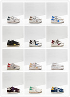Wholesale printing tabs - GGDD Gooses Women Super Star Sneakers Shoes Men Scarpe Donna Uomo Leather Homme Femme Upper In Calf Leather Toe And Heel Tab In Laminated Le
