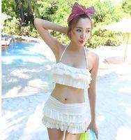 Wholesale Flax Skirt - Swimsuit skirt type split bikini flax side of the bikini top of the fashion bikini hot spring swimsuit