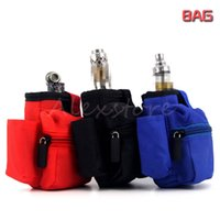 Wholesale Eliquid Case - Carry Pouch Bag Carring Box Case Cloth Pocket with Hook Zipper Necklace Lanyard Holder 3 Colors for Box mod Rda Eliquid bottle DHL
