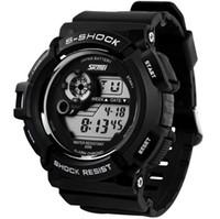 g шокирующие часы оптовых-Новый G стиль цифровые часы S шок мужчины военная армия часы водонепроницаемые дата календарь светодиодные спортивные часы relogio masculino