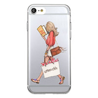 Wholesale Clear Book Covers - Shaka Laka Read a book Phone Shell Clear fashion beauty Case For iPhone 6 6S 5.0in 6Plus 7 7plus 8 8s plus Soft TPU silicone back Cover