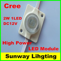 Wholesale High Power Rgb Led Module - Cree LED module high power RGB IP67 DC12V 2W 1LED sidelight LED modules Round shape colorful 100PCS Lot 3 years warranty