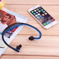 freie verschiffenkopfhörer groihandel-Heiß! Sport-Gym-laufender Kopfhörer drahtloser MP3-Player mit TF-Speicherkarten-Schlitz-Verpackung um Kopfhörerspielerkopfhörer FM Radio Freies Verschiffen