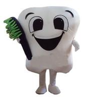 trajes de dentes venda por atacado-Enviar EMS dente de alta qualidade mascote dos desenhos animados traje da mascote do vestido extravagante venda quente