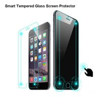 Wholesale Iphone Touch Screen Mirror - Cell Phone Screen Protectors Smart Dual Touch Tempered HD Glass Screen Protector 0.2mm 9H 2.5D For iPhone 6 iPhone6 Plus With Retail Box