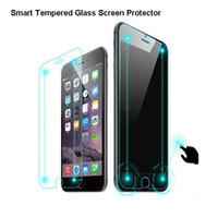 cam ekran koruyucusu iphone6 plus toptan satış-Cep Telefonu Ekran Koruyucular Akıllı Çift Dokunmatik Temperli HD Cam Ekran Koruyucu Perakende Kutusu Ile iPhone 6 iPhone6 Plus için 0.2mm 9H 2.5D