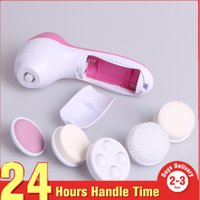 Wholesale spa facial brush resale online - 201 Hot Sale In Multifunction Electric Face Facial Cleansing Brush Spa Skin Care Massage