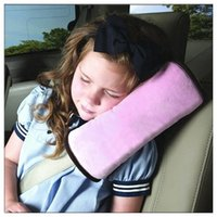 Wholesale Car Seat Cover Sets Pink - Baby Car Auto Safety Seat Belt Harness Shoulder Pad Cover Children Protection Covers Cushion Support Pillow car covers free shipping TY531