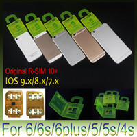 Wholesale used sprint iphone 4s - R-SIM 10+ R SIM 10plus RSIM 10+ Rsim10+ Unlock Card for iphone 6s 6 6plus 5S 4s ios 9.1 ios9.0 9.x 3G 4G CDMA SPRINT AU direct use no Rpatch