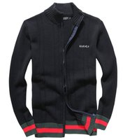 Wholesale Knitwear Cardigans - 2018 NEW Men Sweater Fashion Autumn Autumn Winter Warm Men Cardigans Sweaters Casual Knitwear Stand Collar Mens Sweater Men Tops CCu M-2XL