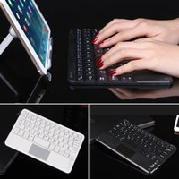 Wholesale Thin Inch Android Tablet - Wireless Bluetooth Keyboard Touchpad For All 7-10 inch Android Windows Tablets PC Computer Ultra-thin Mini Touch Cover keyboard