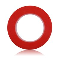 Wholesale Sticker Side - Wholesale-2pcs lot High Strength 8mm*25m Red Adhesive Tape Sticker Acrylic Gel Adhesive Double Sided Tape For Phone LCD Screen
