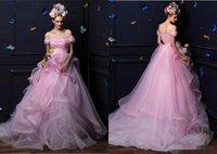 Wholesale Vintage Bubble Up - Ivory Wedding Dresses Organza Ball Gowns Off Shoulder Draped Bridal Gowns Bubble Dress Chapel Train 2016 New Style plus size wedding dresses