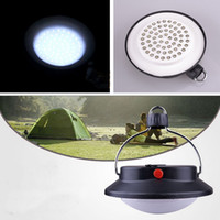 Wholesale Tent Campsites - Retail Outdoor Indoor Portable Camping 60 LED Lamp with Lampshade Circle Tent Lantern White Light Campsite Hanging Lamp inspiration bonfire