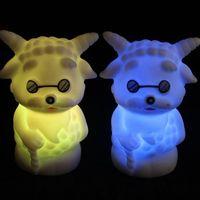 Wholesale Led Sheep Night Light - Creative Children Shiny Toys Slowly Sheep Shape Vinyl LED Night Light LED Lighting 9050