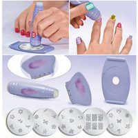 Wholesale Pro Tools Support - Nail Art Template Kit New Nail Tools Pro Salon Nail Art Stamp Stencil Polish Nail Stamping DIY Tool Manicures Support wholesales