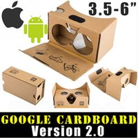 Wholesale Newest Google Cardboard V2 D Glasses VR Valencia Quality Max Fit Inch for Smartphone IOS Android iphone S plus S S6 edge