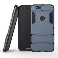 funda silicona hombre hierro al por mayor-Iron Man Funda dura híbrida del caso 3 en 1 PC + TPU para trabajo pesado resistente de silicona suave con soporte para el iphone 7 6S Samsung S5 S6 HTC M8 LG