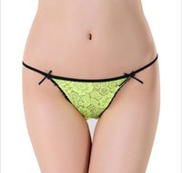 Wholesale Cheap Women S Thongs - Hotselling Sexy Underwear Women Multi Color Cheap G-string Thong Top Briefs Female Hipster T Back
