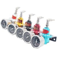 Wholesale Gauges Exhaust - High Quality Universal Sardtype fuel pressure regulator with original gauge(red blue gold silver black Titanium) Fuel valve TOMEI fuel regu