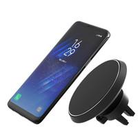 iphone luftentlüftung großhandel-5w wireless car qi drahtlose ladegerät magnet halter entlüftungsstand stehen für iphone 8 x xs max samsung galaxy s6 s7 s8 plus
