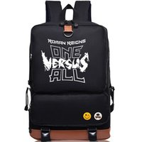 Wholesale roman letter - Wrestling fans backpack Roman Reigns daypack Cool schoolbag Luggages rucksack Sport school bag Outdoor day pack