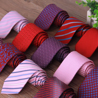 Wholesale business suit tie - 36 Models Fashion Business Suit Necktie Stripe Pattern Ties Wedding Groom Tie for Men Gift Drop Shipping